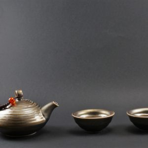 Iron Rust Glazed Tea Set