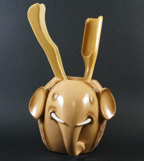 Elephant Tea Tools Canister