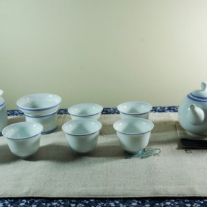 Double circle tea set