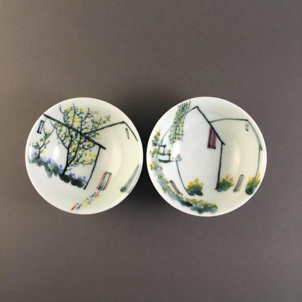 Pastel hat tea cups