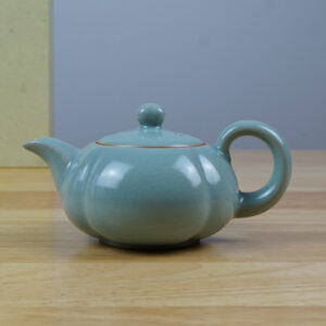 Petal shaped Teapot Ru Porcelain Tea Set -Teapot