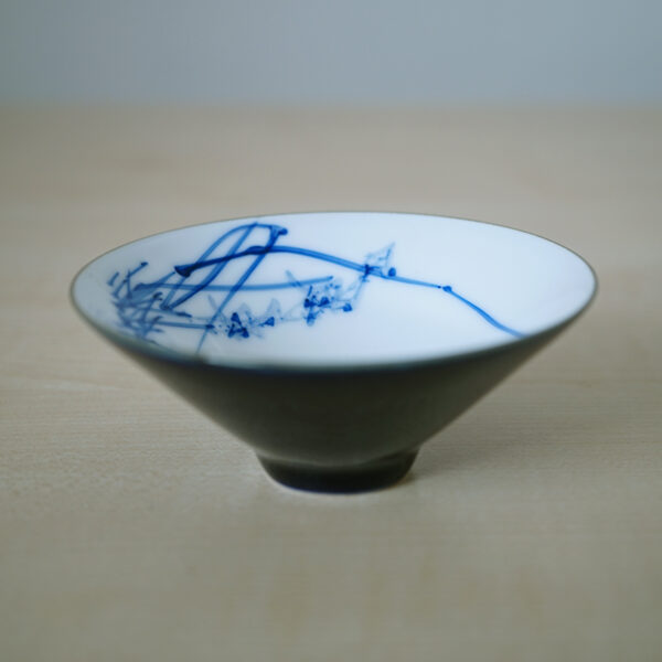 Product Photos of Blue and White Porcelain Bamboo-Hat teacup--Orchid Blossom