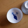 Photo of Hand-Painted Blue & White Porcelain Teacup-Plum
